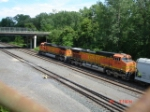 BNSF 5144 & BNSF 4185 lead Q380 EB